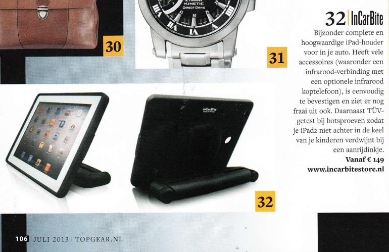 incarbitestore in topgear magazine juli 2013